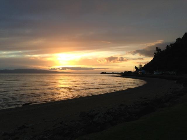 light beach sunset