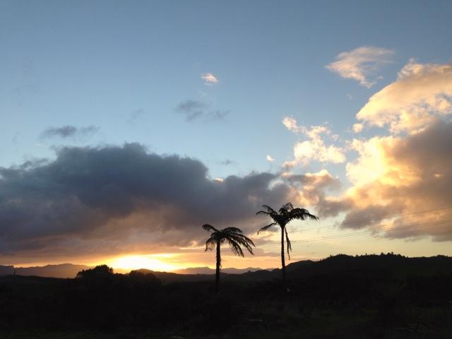 magical sunset paradise