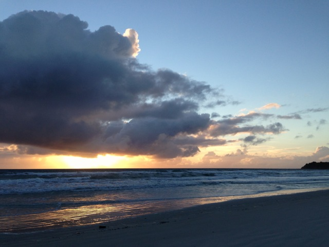 beach sunrise freedom camping in kenobi rocket