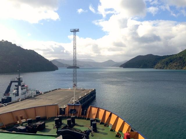 leaving south island through marlborough sounds