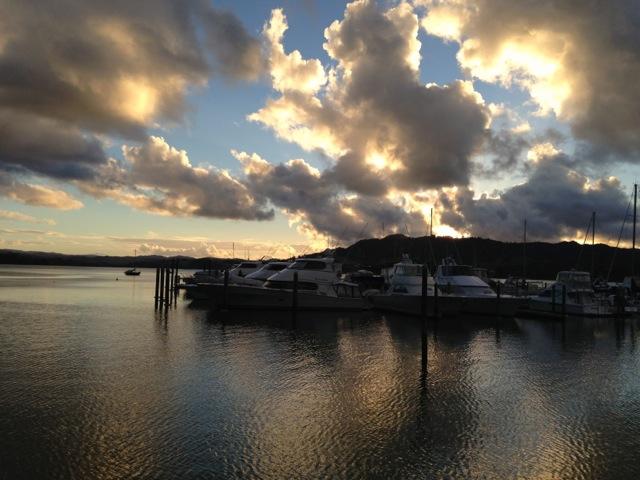 sunset whangaroa marina