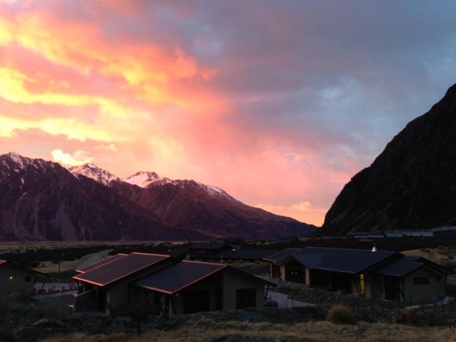 sunrise over mt cook village