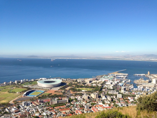 stadium, waterfront and table bay