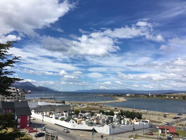 view over the cemetary and out to the beagle channel