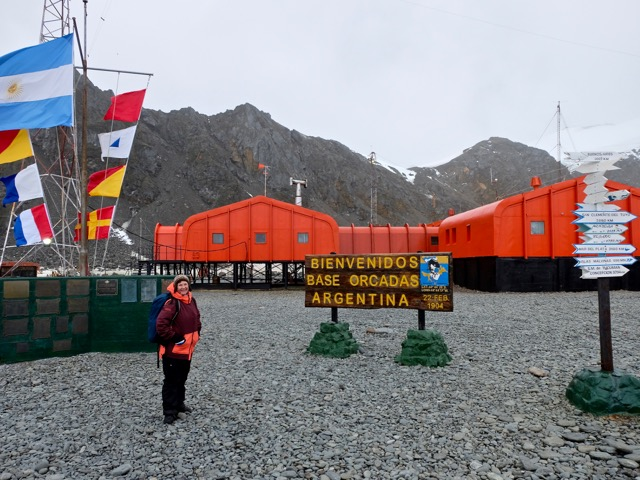 we visited Las Orcadas Argentinean Base on the South Orkney Islands