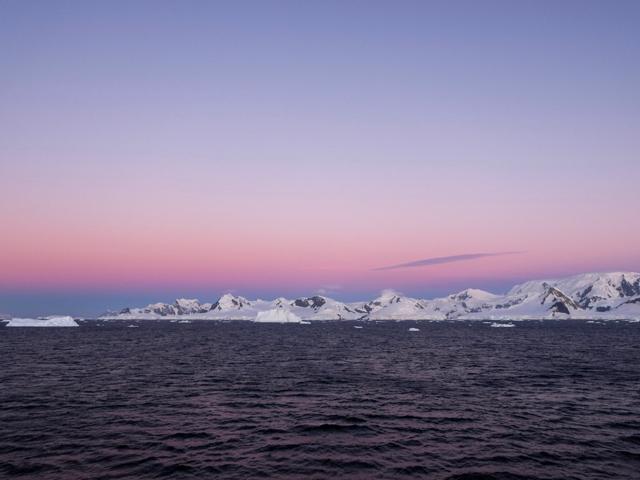 Antarctic sunset sigh