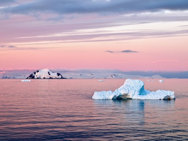 all the pinks Antarctic sunset