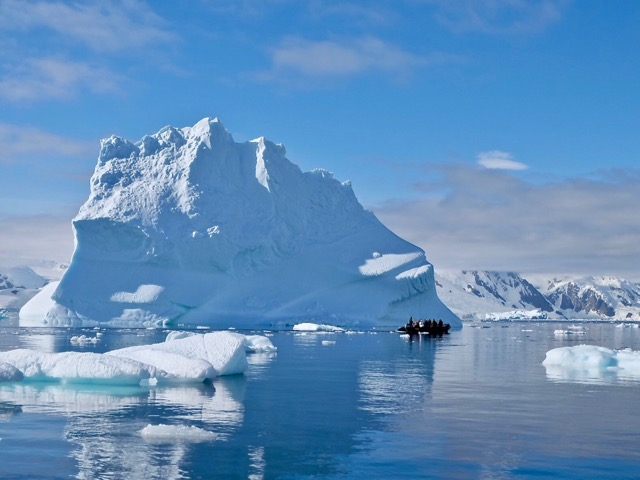 zodiacing amidst the icebergs at Portal Point