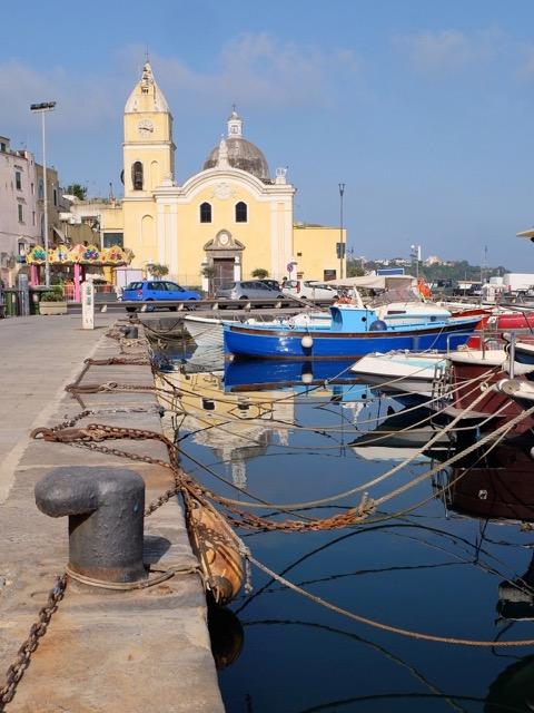 Marina Grande on Procida Island