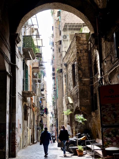 street life through the arch