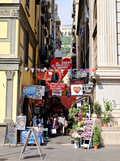street market in the Spanish quarter