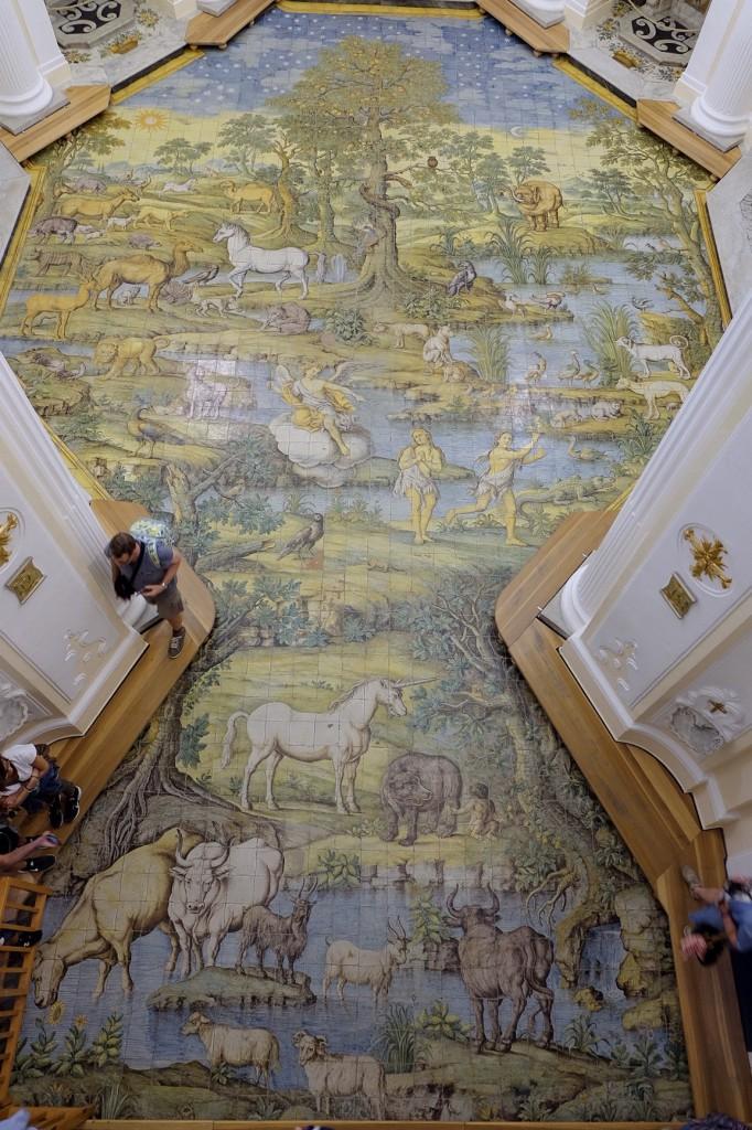 Anacapri church of San Michele floor mosaic