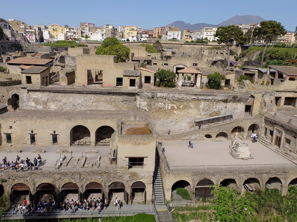 Herculaneum below Vesuvius