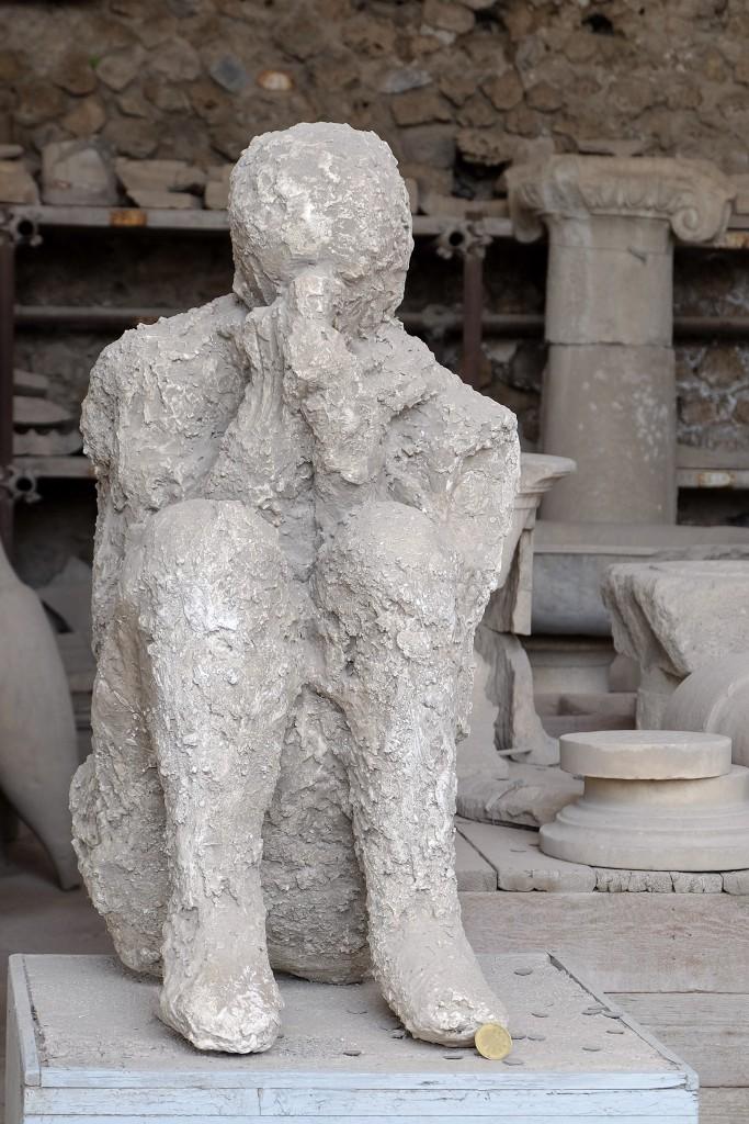 Pompeii preserved body